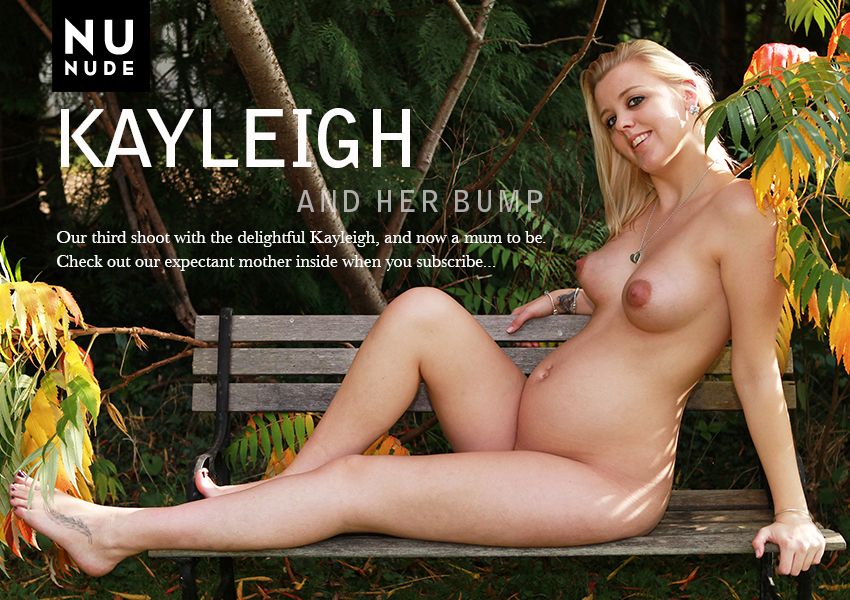 Kayleigh pregnant nudist model