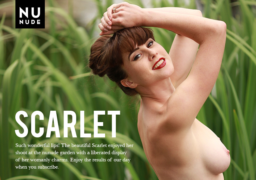 Scarlet nudist model
